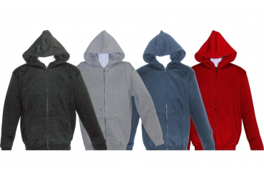 YOUTH FULL ZIPPER HOODED FLEECE SWEATSHIRT JACKET