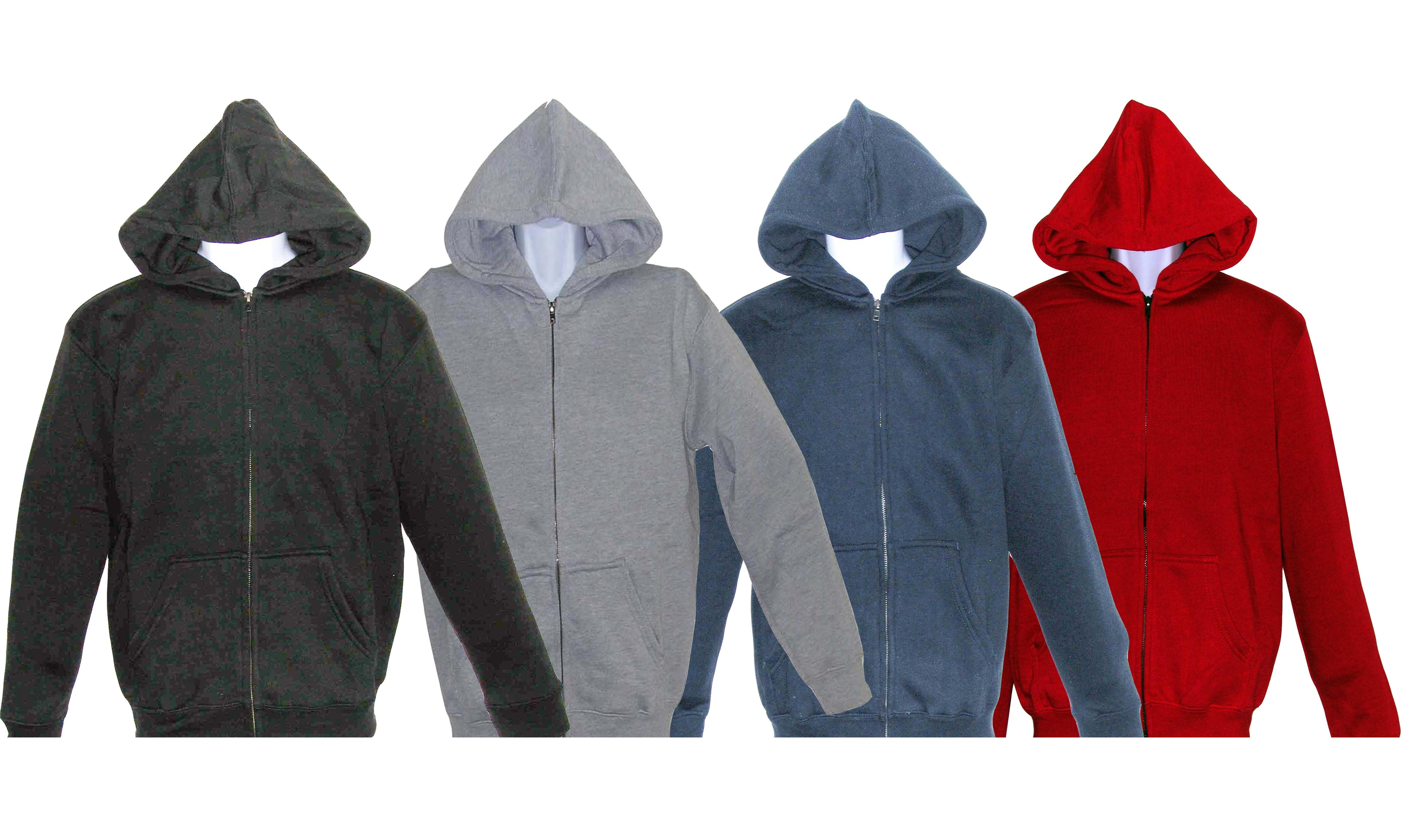 ADULT FULL ZIPPER HOODED FLEECE SWEATSHIRT JACKET - Specien.com