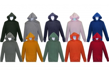 BOY HOODED PULLOVER FLEECE SWEATSHIRT