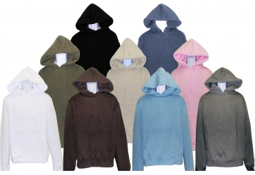 GIRL HOODED PULLOVER FLEECE SWEATSHIRT