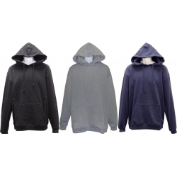 ADULT MIDDLE WEIGHT HOODED PULLOVER FLEECE SWEATSHIRT