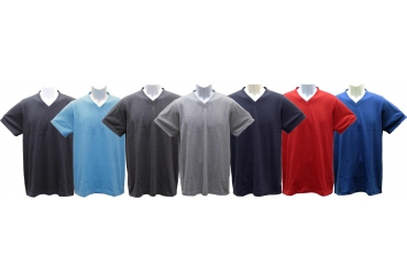 Adult Short-Sleeve V-Neck Jersey T-Shirt
