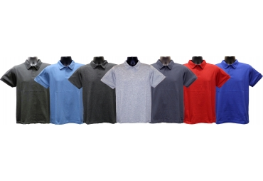 Adult Short-Sleeve Improved-Collar Jersey Polo-Shirt