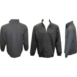 Adult Full Covered Zipper Fleece Sweatshirt Jacket with Mock/Cadet Collar & Sides Zippers Pockets