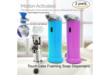 SPECIEN 2 Pack Sensor Motion Activated Touch Free/Touch Less Soap Sanitizer Dispensers