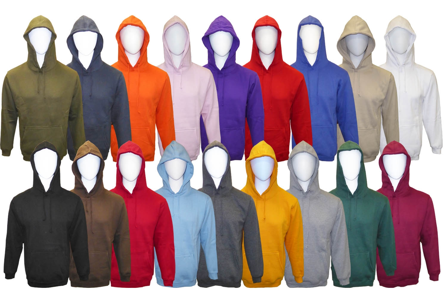 Adult Hooded Pullover Fleece Sweatshirt