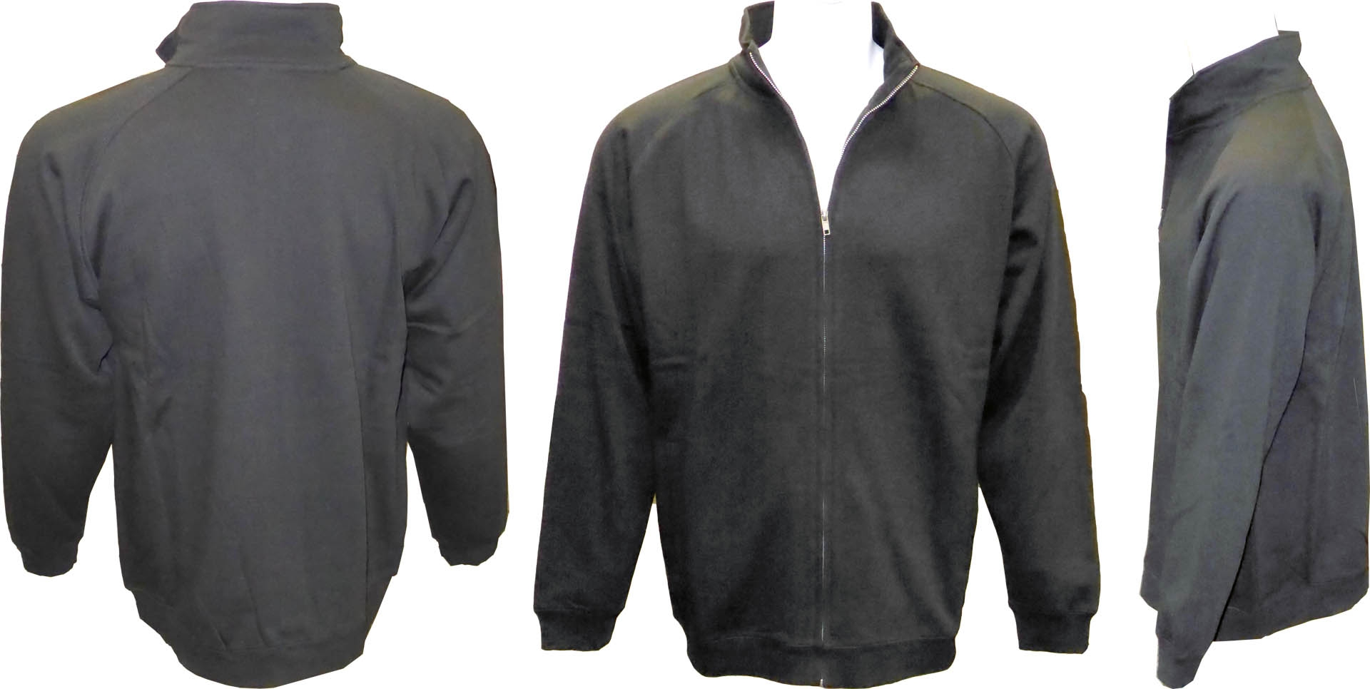 Adult Full Covered Zipper Fleece Sweatshirt Jacket