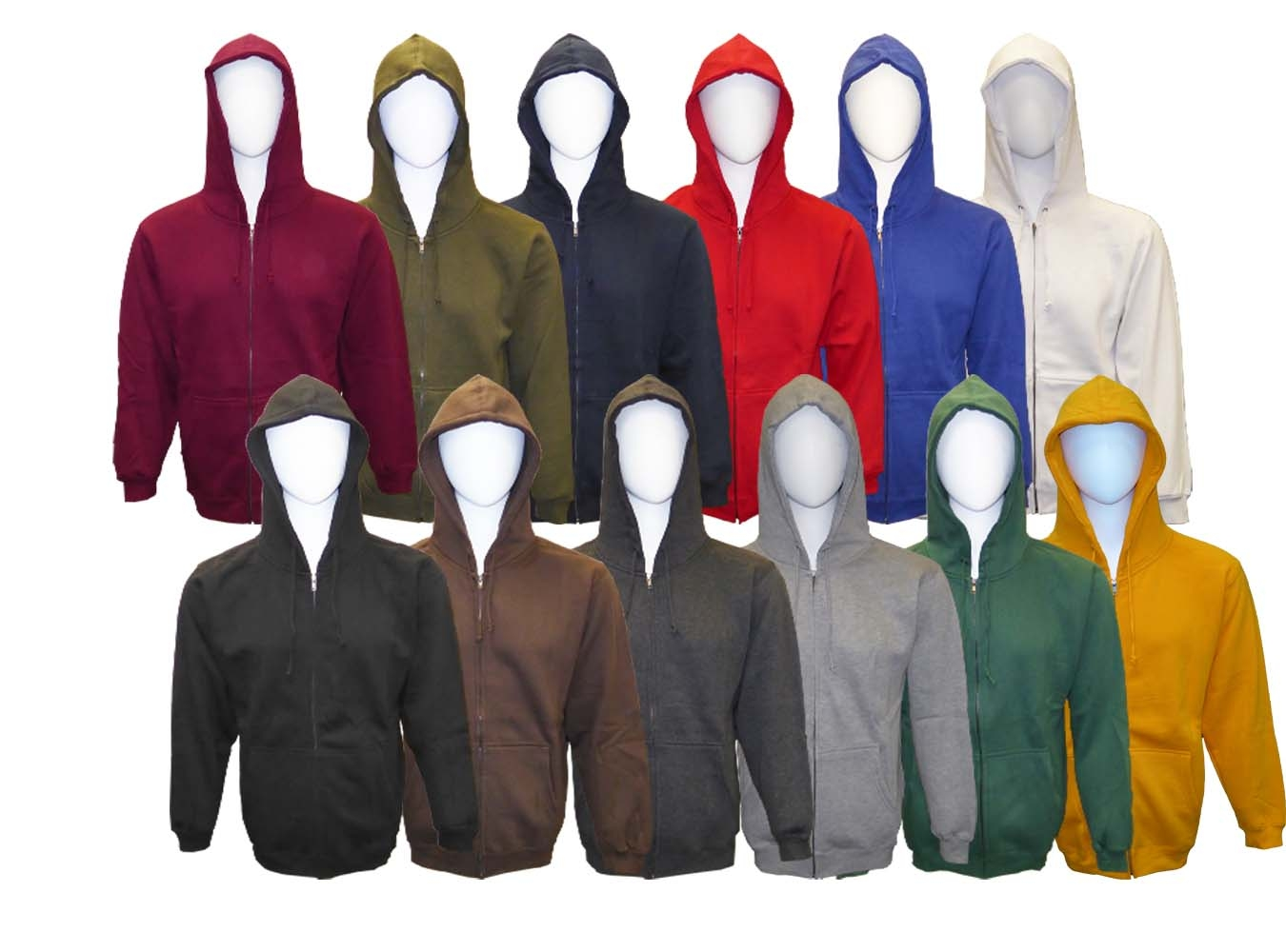 Adult Hooded Full Covered Zipper Fleece Sweatshirt Jacket