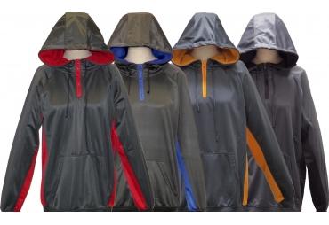 SPECIEN Men's Quarter Zipper Performance Hooded Pullover Sweatshirt Hoodie Windbreaker Jacket