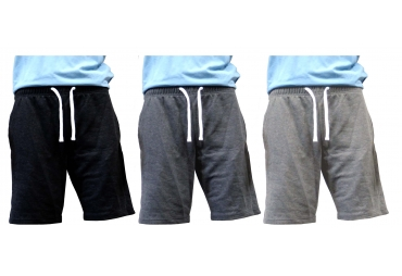 Men's Classic Fit Casual French Terry Active Sweat Short Pants with Elastic Waist…